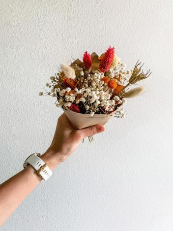Colorful Mini Dried Flower Arrangement