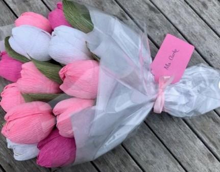 Tulips Crepe Paper Flowers