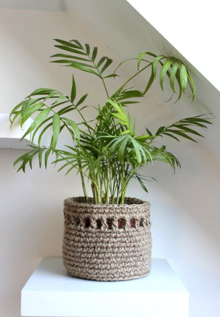 Crochet Basket for  plant pot cover