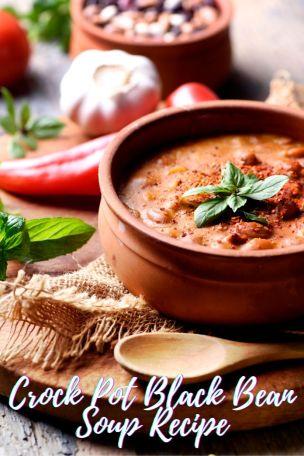Crockpot Black Bean Soup Recipe