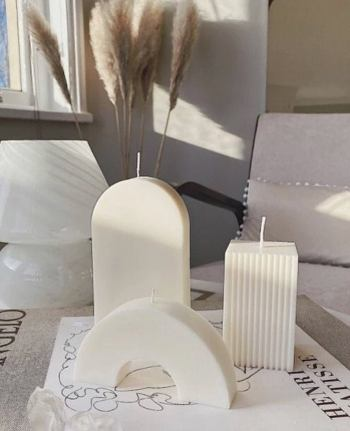 Customized Abstract shaped soy wax candles