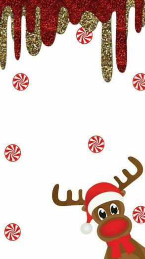 Cute raindeer Christmas wallpaper for iPhone