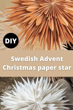 Swedish Advent Christmas paper star