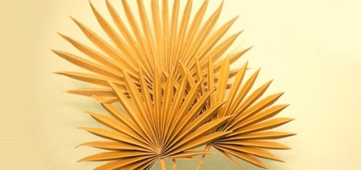DIY paper palm leaves step by step