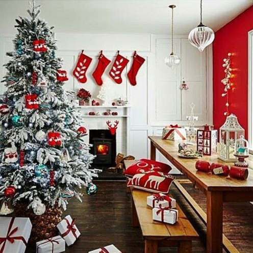 Dining room Christmas farmhouse decor