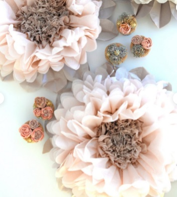 Dusty blush paper flower - large paper flowers