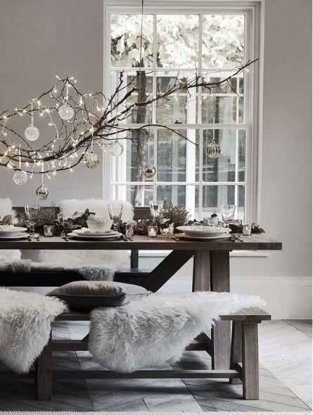 Elegant dining Christmas table setup