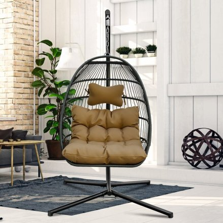 Erich Patio Garden Swing Chair with Stand