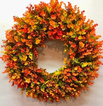 Eucalyptus Wreath, For Front Door, Fall Wreath, Boxwood Wreath
