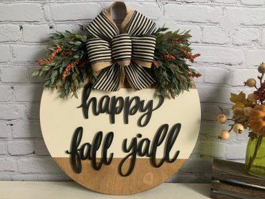 Fall Door hanger Happy Fall Y'all