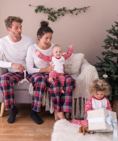 Family Christmas Pyjamas - Family Pajamas - Personalised Christmas Family Pyjamas - Family Name Pyjamas - Embroidered Family Pyjamas