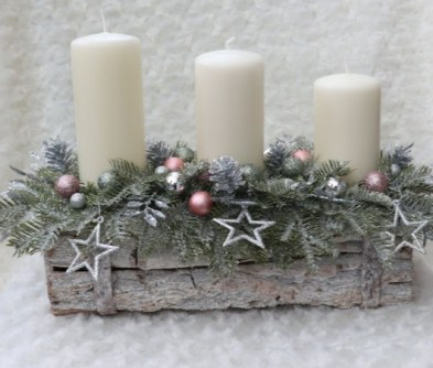 Farmhouse Christmas candle  arrangement