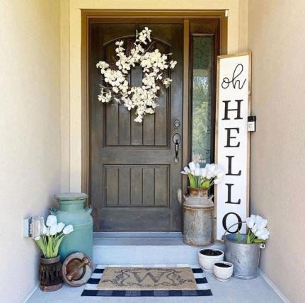 Farmhouse welcome wood sign