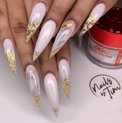Glam stiletto nails art