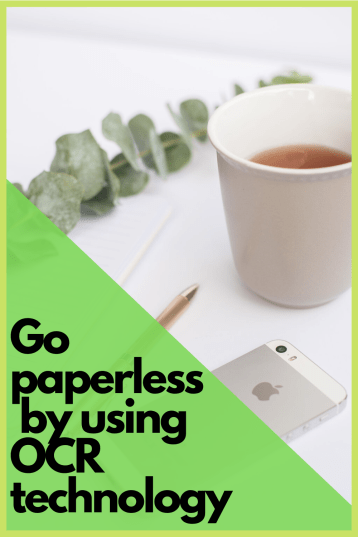 Go paperless by using OCR technology