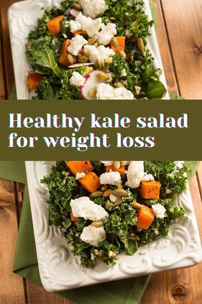 Healthy kale salad for weight loss