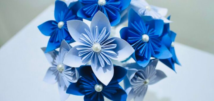 How to make paper flower bouquet step by step tutorial