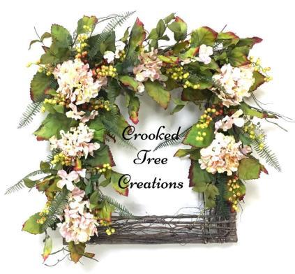 Hydrangea Square Wreath