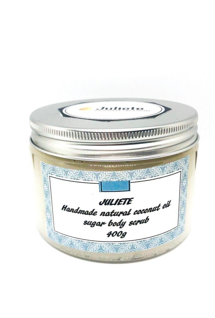 Organic sugar scrub for sensitive skin. Handmade Coconut scrub for sensitive skin.