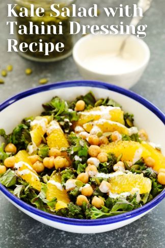 Kale Salad with Tahini Dressing Recipe