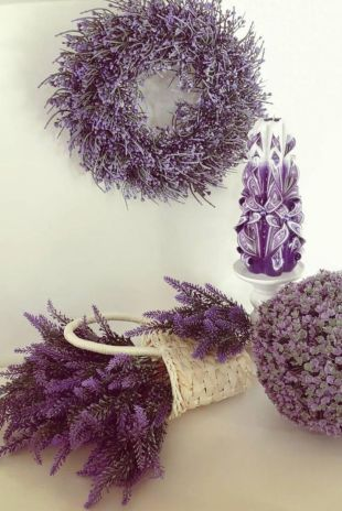 Lavender welcome wreath
