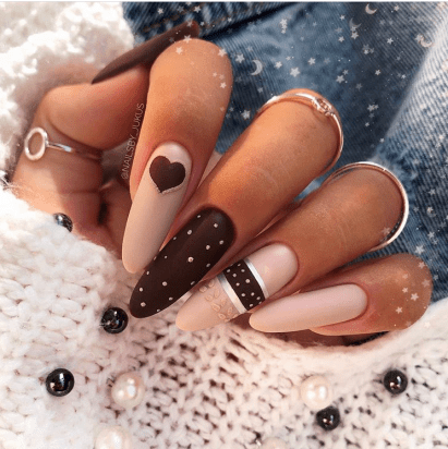 Long pretty nails design