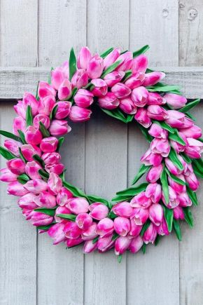 Luxury Pink Tulip Wreath