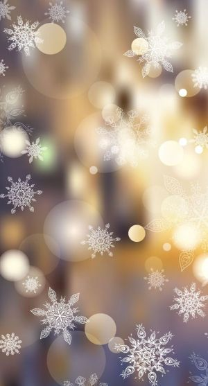 Magical stars Christmas wallpaper for iPhone background