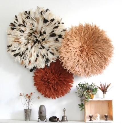 Multicolour juju hat wall decor for lounge