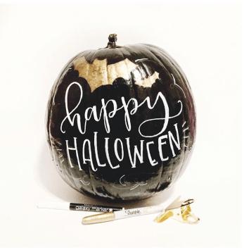 No carve halloween pumpkin paint