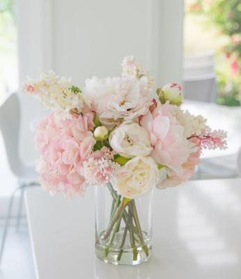 Peony flower arrangement Centerpiece. Artificial flower arrangements for  home decor