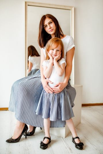 Pleated skirt family matching outfits