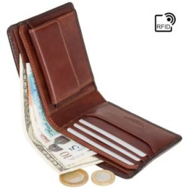 RFID wallet - VISCONTI Leather Wallet - Oil TAN - Shield - 707 - Cash and Coin Holder - Card Case - Bi-Fold - Slim Wallet - Man Wallet