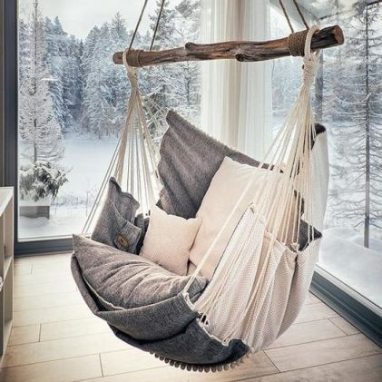 RUSTIC STYLE hanging chair for adults.