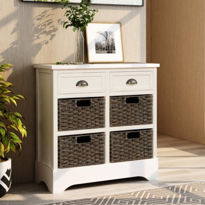 Rattan Console table for Living Room