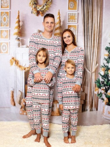 Reindeer Print Family Christmas Pajamas Deer Print Pajama Sets family Matching Pajamas