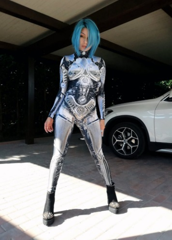 Halloween Robot Cyberpunk Costume for Women