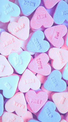 Romantic heart sweets wallpaper