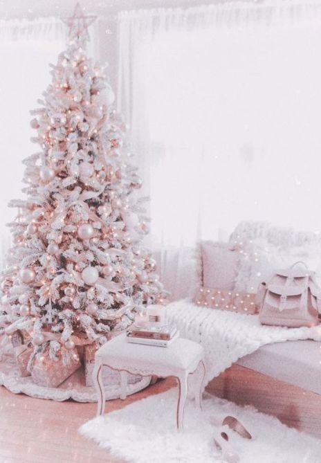 Rose gold Christmas tree  decor