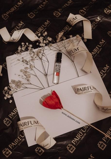 Scarlet Rhubarb & Oakmoss mini sample London Pairfum review by missmv.com
