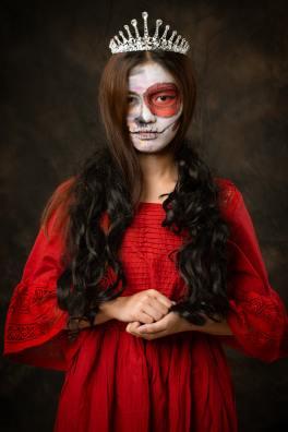 Scary princess Halloween makeup