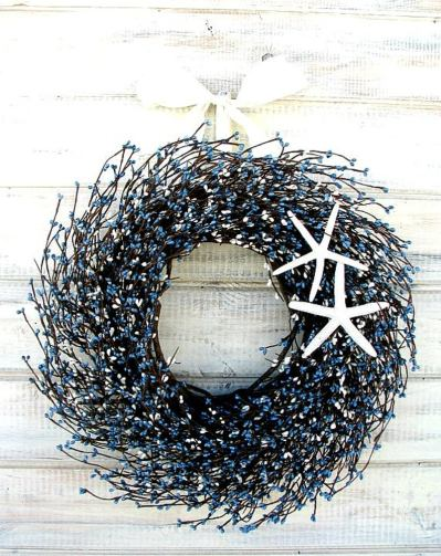 Seashore wreath for front door