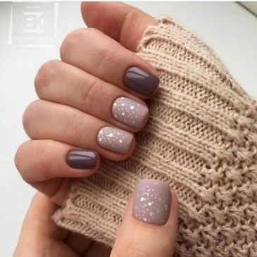 Short winter nails design ideas