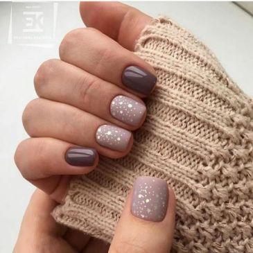 Short winter nails design ideas