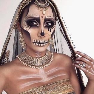 Skull Queen Halloween makeup