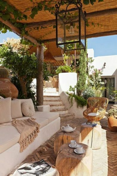 Spanish style outdoor living space inspiration