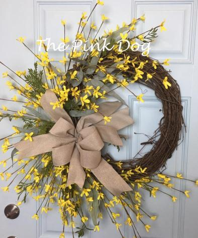 Spring Forsythia Wreath
