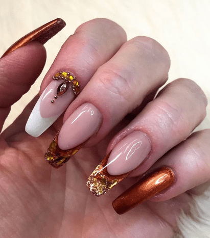 Super glam long nails art