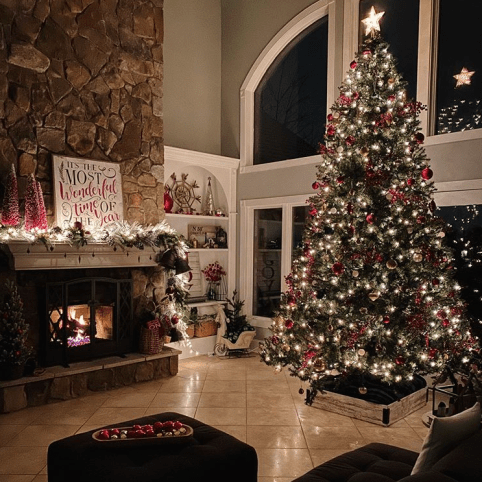 The most welcoming living room decor for Christmas season