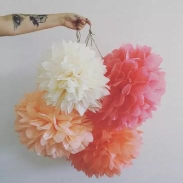 Tissue Paper Flowers paper pom poms balls lanterns